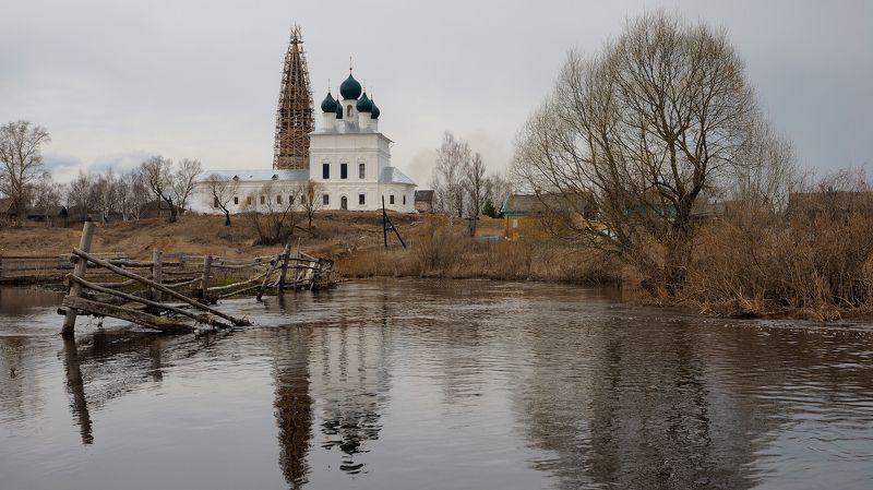 село, осенево, река, лахость, весна, храм, разлив, непогода, гуси Вокруг да около.photo preview