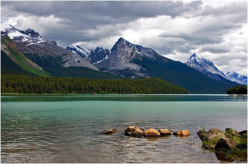 озеро, канада, альберта Альбертинские озераphoto preview