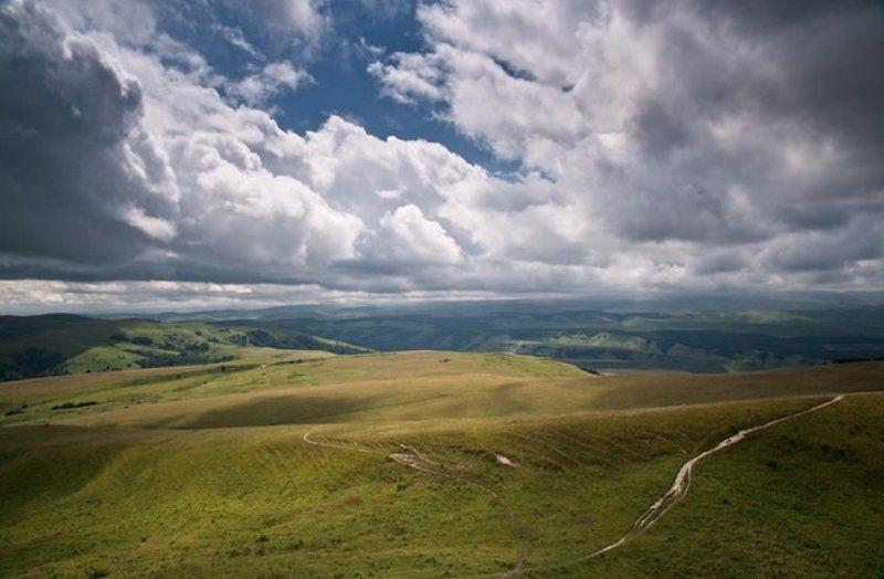 гора, кавказ Вид с горы Большое седлоphoto preview