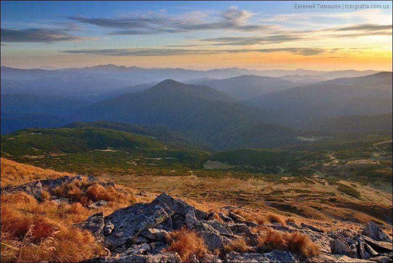 Закат с вершины Говерлыphoto preview