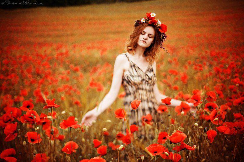 Крым маки девушка весна май ***photo preview
