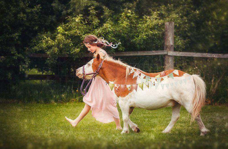 girl, horse ***photo preview