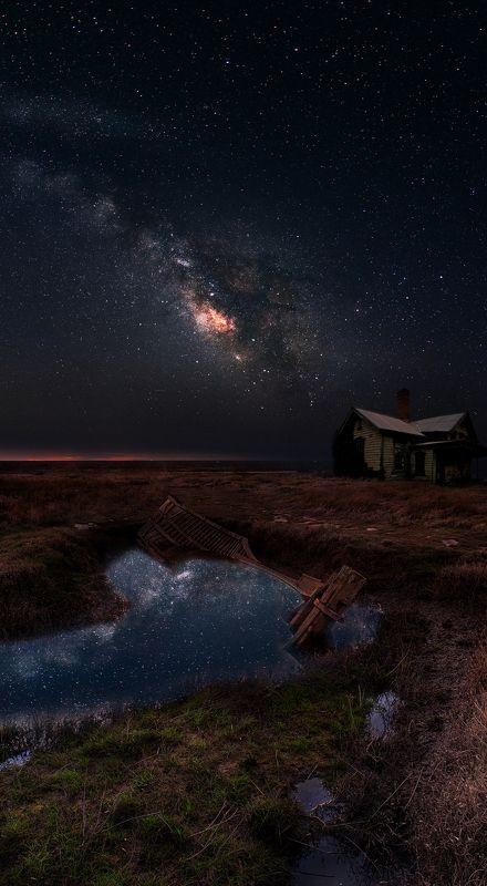 Milky way, Stars hunting lodgephoto preview