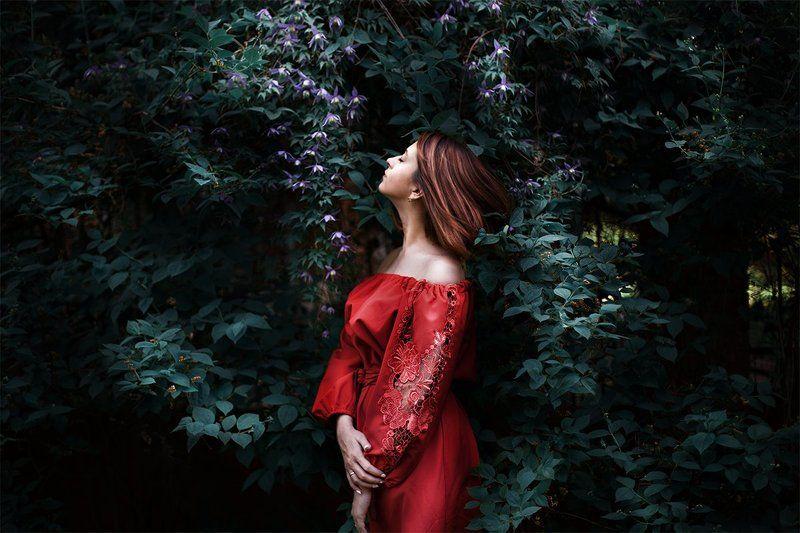 Dress, Flower, Girl, Red, Reddress, Summer Summertimephoto preview