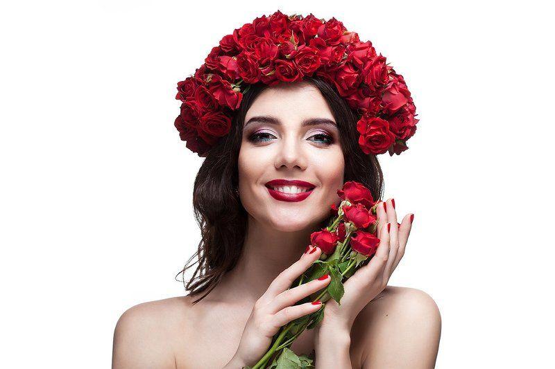 девушка, розы ***photo preview