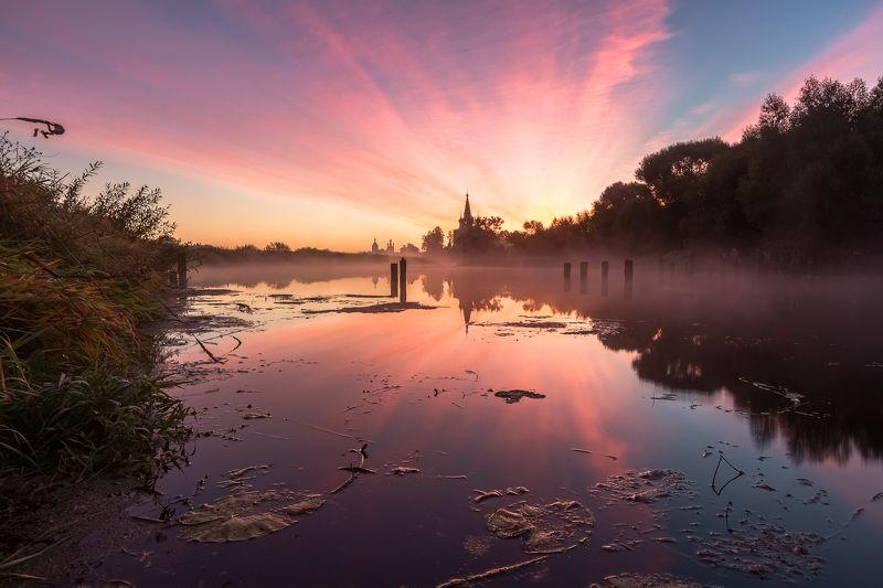 Горицы, Дунилово, Река Теза Окрест речки Теза.photo preview