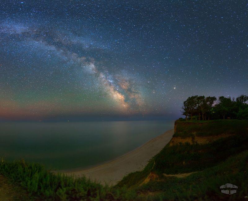milky way, stars, night, sea, море, звезды, млечный путь, ночь, ночной пейзаж, nightscape Milky Way about Black Sea near Budaki lagoonphoto preview