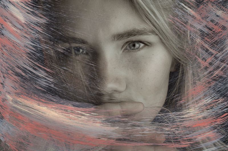 analog, art, blond, color, colorful, colors, concept, conceptual, eyes, face, female, fine art, girl, painting, photography, pink, portrait SEARCH AND DESTROYphoto preview