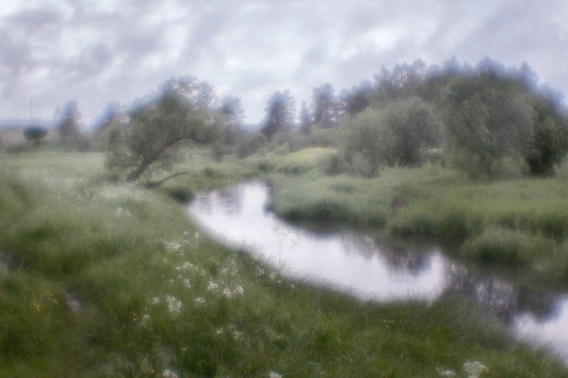 Утро, река, монокль, пасмурно, лето На берегу этой... реки...photo preview