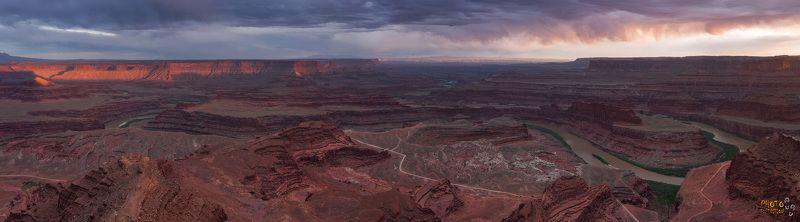 фототур сша америка мертвая лошадь закат панорама Dead Horse pointphoto preview