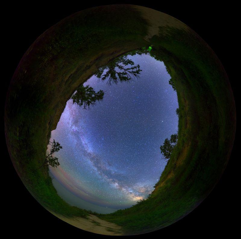 sea, stars, Milky Way, lagoon, canyon, night, ночь, каньйон, лагуна, небо, Млечный путь, звезды, ночной пейзаж Eye of night sky from canyon near Budaki lagoonphoto preview
