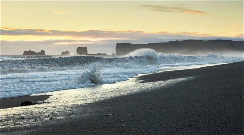 Исландия Iceland Вик мыс океан Исландия. Мыс Вик (Vik).photo preview