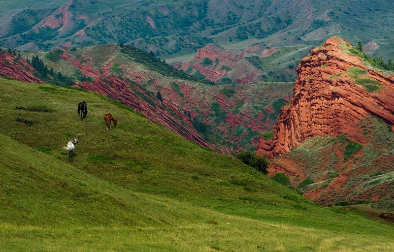 горы, киргизия Джеты-Огузphoto preview