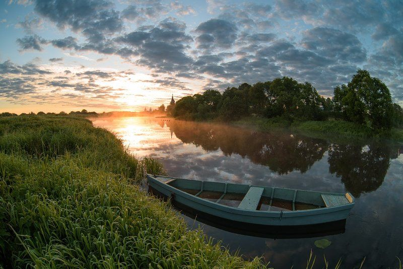 дунилово, лето, небо, природа, рассвет, теза Июнь 2016, Дунилово - рассвет!photo preview