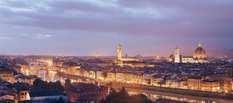 italy, florence, city, night, panorama Florencephoto preview