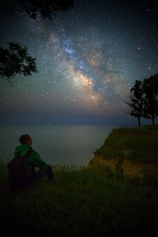 ночь, звезды, берег, море, млечный путь, ночной пейзаж, night, stars, sea, seascape, milky way, dreams The Sea of dreamsphoto preview