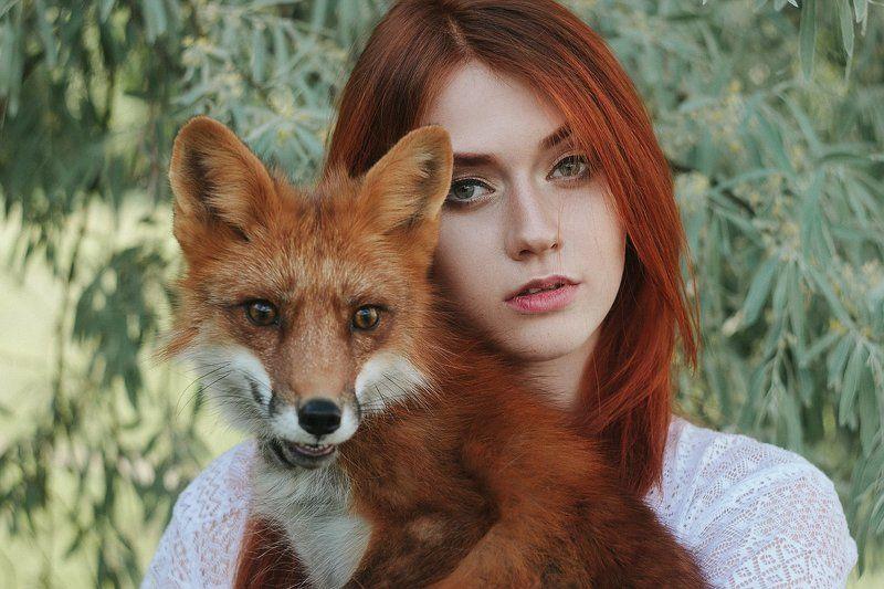 лиса, тюмень, бонд, портрет, рыжие Double foxphoto preview