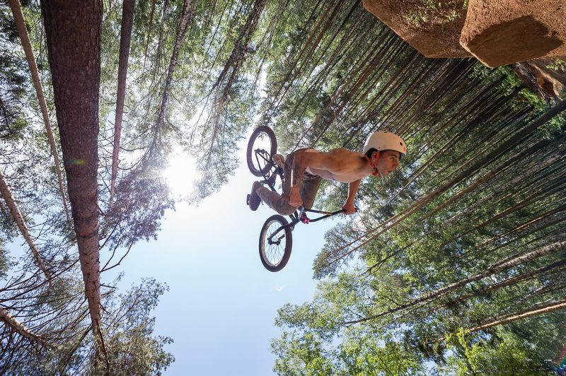 Action, Backflip, Bmx, Dirt, Dirtpark, Forest, Summer Backflipphoto preview