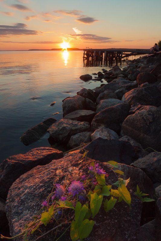 природа, Дубна, Московская область, закат, водохранилище Московское мореphoto preview