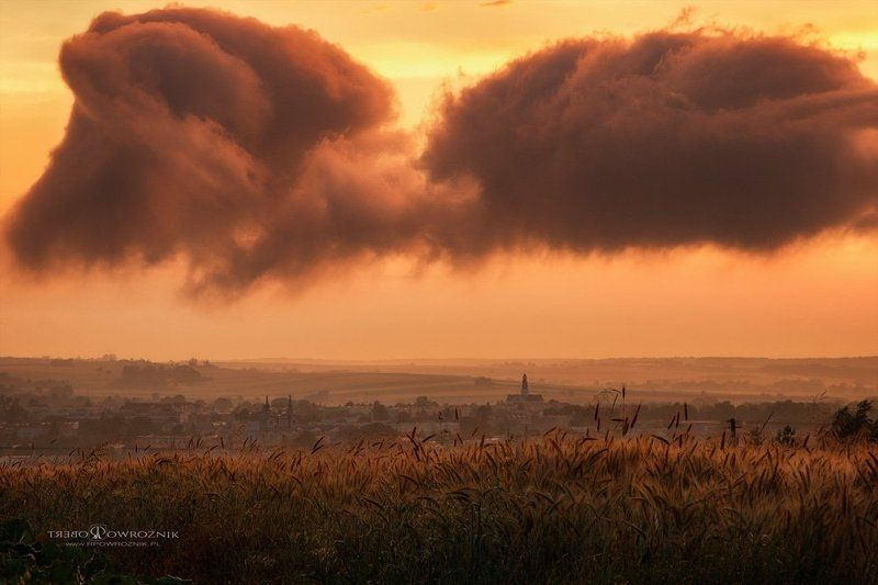 landscape, scenery, sunset, clouds, rpowroznik beyond the horizon...photo preview