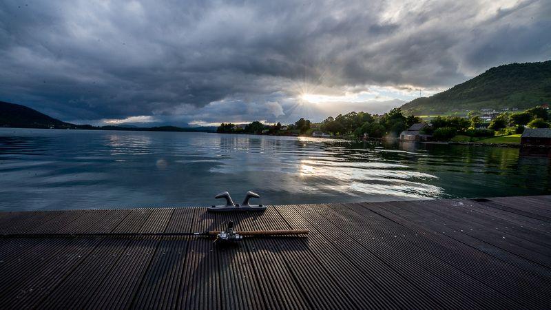 Пейзаж, причал, Норвегия, Фьорды, удочка, рыбалка Рыбалкаphoto preview