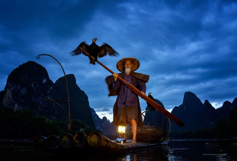 China, Fisherman, Fishing, River Cormorant fishing on the Li River, Chinaphoto preview