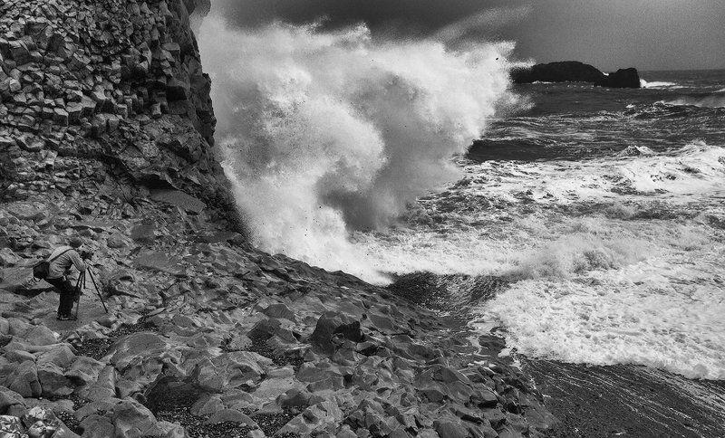Исландия Вик океан Ради кадра.photo preview