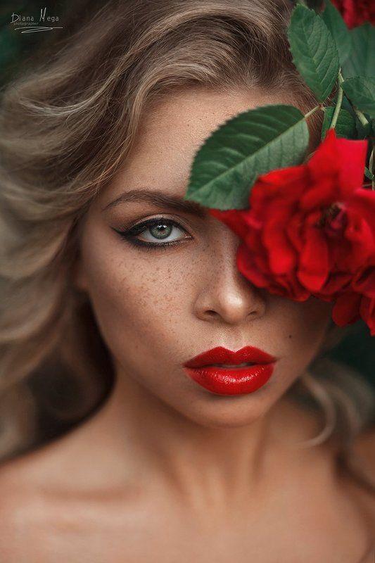 Розы, девушка, блондинка Наталиphoto preview