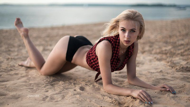 Beach, Belarus, Girl, Light, Minsk, Sea, Sexy, Sunset, Zavadskiy Янаphoto preview