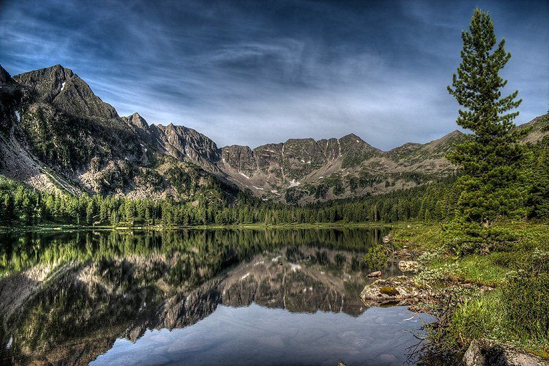 пейзаж, озеро, горы, западные саяны Равновесиеphoto preview