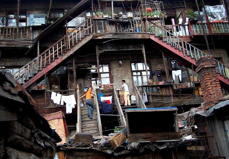 китай, харбин,  провинция хэйлуцзян, старый город, трущобы Лестница на небесаphoto preview