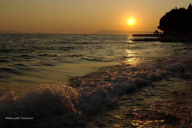 хорватия, адриатика Закат Адриатикиphoto preview