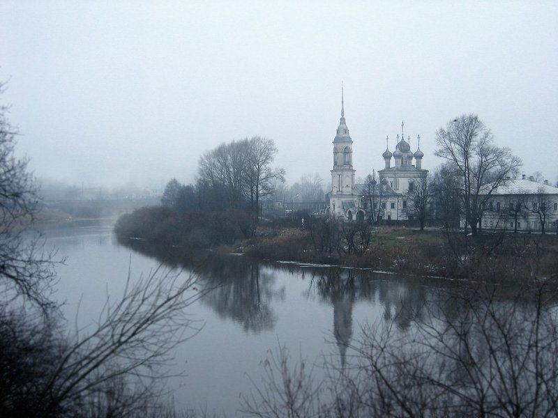 река, церковь, осень, пейзаж Ноябрьphoto preview