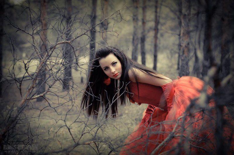 девушка, модель, лес, гламур, портрет, борис бушмин Лесное фееричекое...photo preview