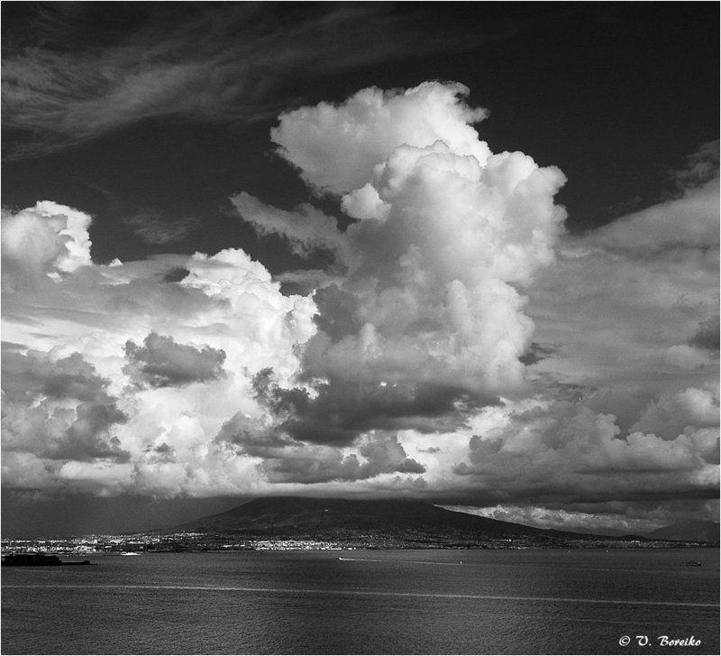 везувий, неаполь, вулкан, италия Извержение облаковphoto preview