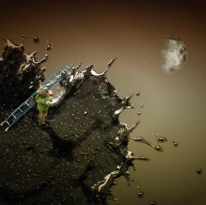 луна,макро,лесница,я,коллаж photo preview