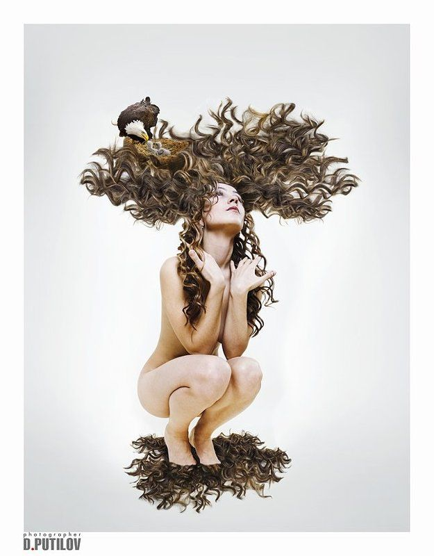путилов, креатив, девушка, секс, смысл, идея Девушка-деревоphoto preview