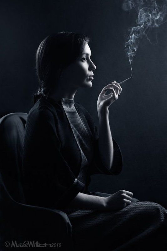 portrait, girl, woman, cigarette, smoking, low, key, девушка, женщина, портрет, сигарета \