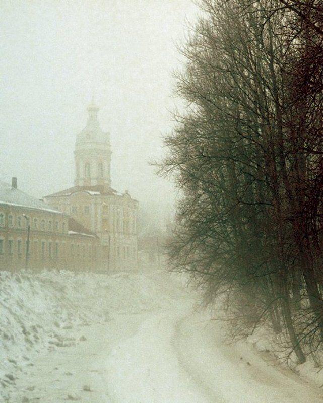 снег, туман Зимаphoto preview