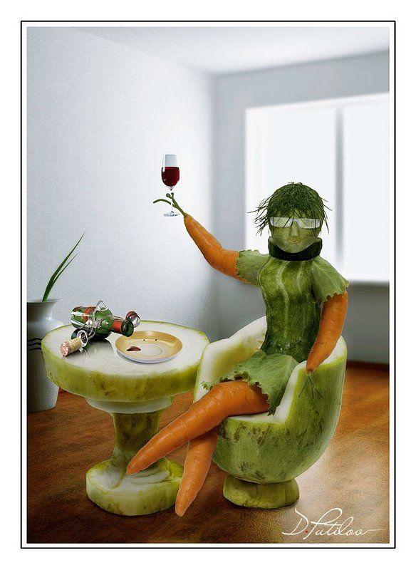 путилов, креатив, смысл, идея Овощная дамаphoto preview