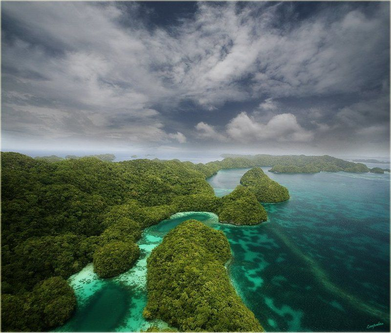 микронезия, палау, корор, съемка с вертолета Еще немного про РАЙ)photo preview