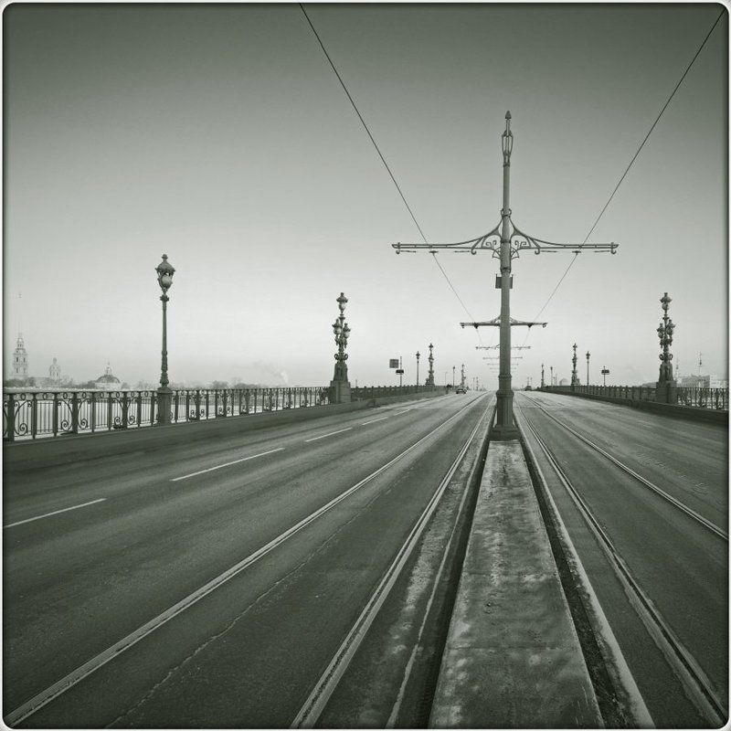 петербург, тройцкий, мост, фонарь, ретро Петербургская перспективаphoto preview