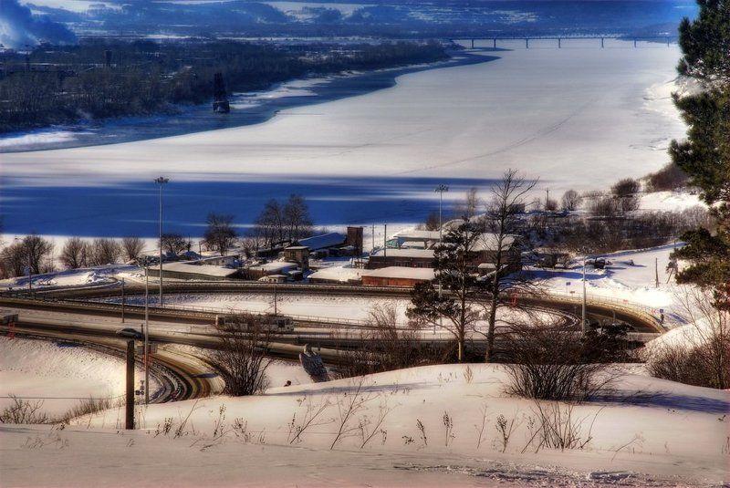 кемерово,кузнецкий,мост,hdr Зима в Кемеровоphoto preview