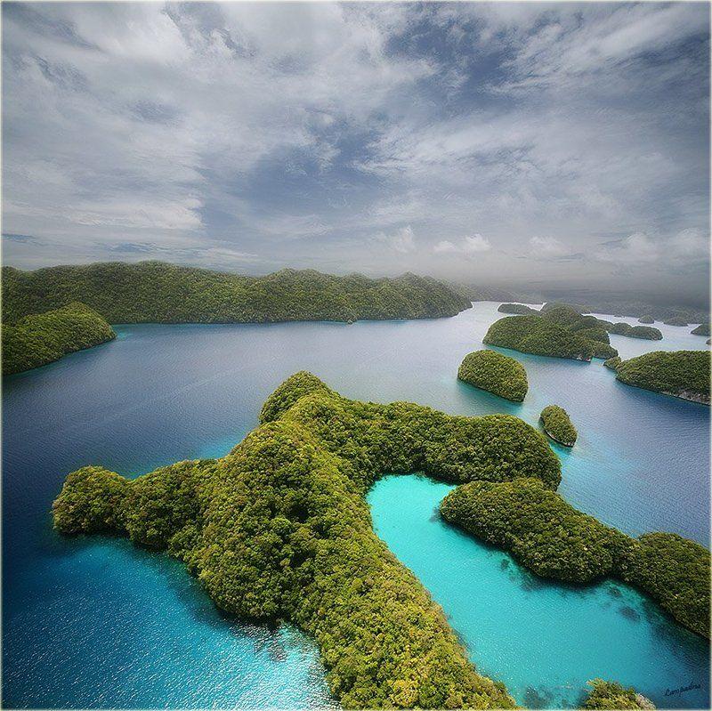 микронезия, палау, остров корор, съемка с вертолета Мои сныphoto preview