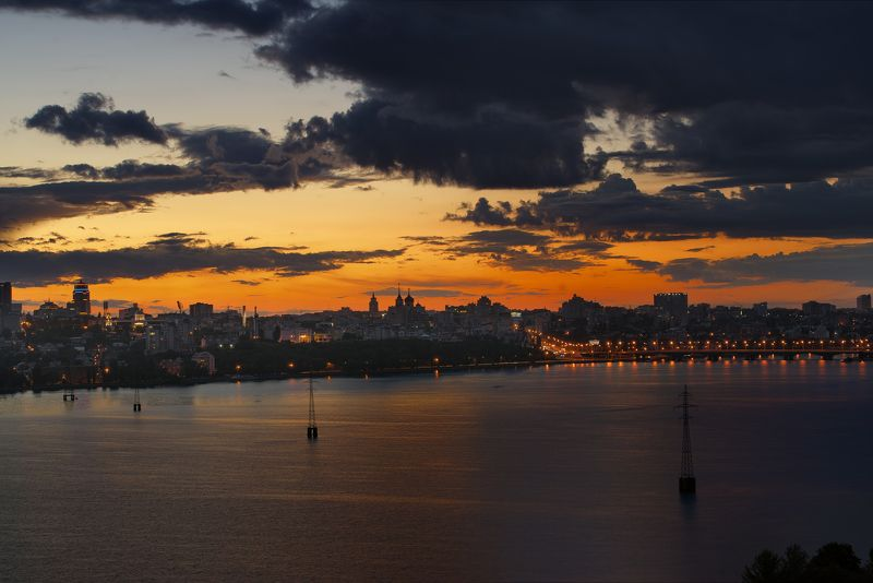 Воронеж, закат,город,пейзаж,2016 Июльский закат в Воронежеphoto preview