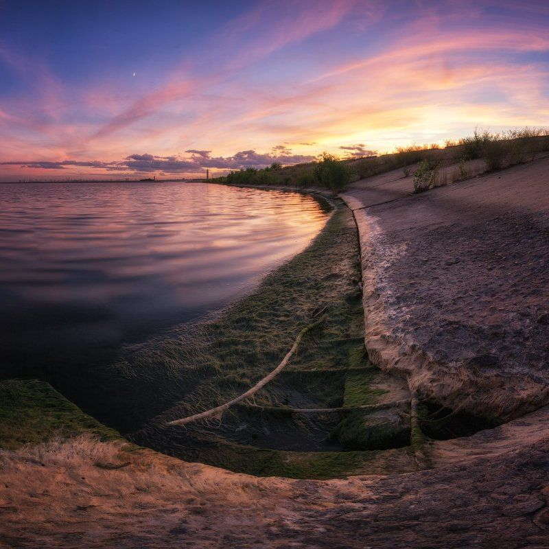 Волжский, ГЭС, Закат, Маяк На пути к маякуphoto preview