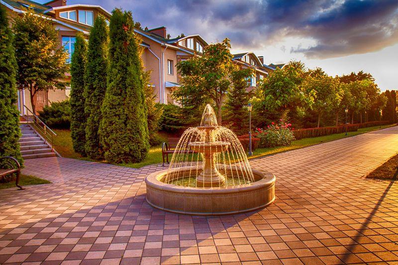 Город. красота, фонтан, свет, закат, Россия, Воронеж Фонтанphoto preview