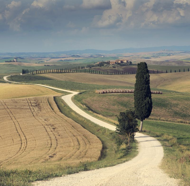 tuscany, landscape The roadphoto preview