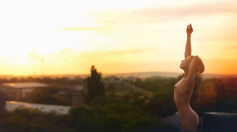 Утро, топлес, ню, девушка, рассвет Sweet morningphoto preview