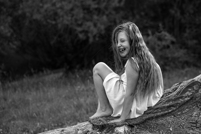 Девочка, Лето, Смех, Счастье Счастьеphoto preview